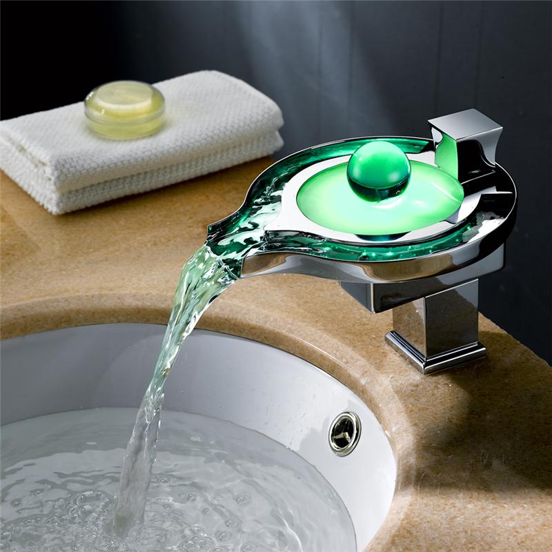 Wasserhahn led badarmatur armatur waschtisch bad - Changer robinet salle de bain ...