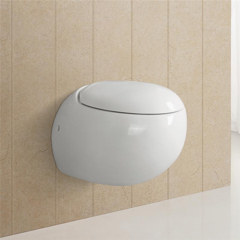 wc toilette mit softclose toilettensitz wandh nge. Black Bedroom Furniture Sets. Home Design Ideas