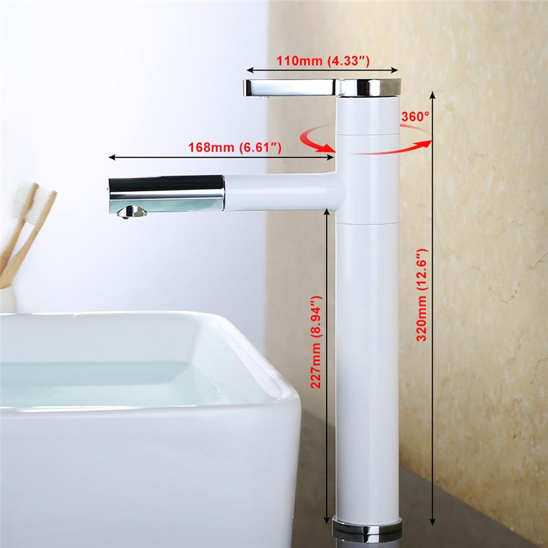 herausziehbarer ausziehbar wasserhahn armatur einhebelmischer waschbecken weiss ebay. Black Bedroom Furniture Sets. Home Design Ideas
