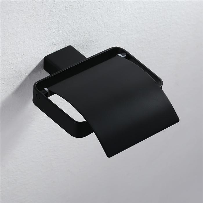 homelody porte papier toilettes mural d rouleur papier hygi nique d vidoire papier wc noir mate. Black Bedroom Furniture Sets. Home Design Ideas