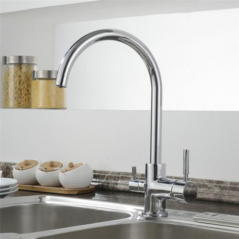 k chenarmatur drei wege wasserhahn 3 in 1 wasserkran f wasserfilter osmosesystem ebay. Black Bedroom Furniture Sets. Home Design Ideas