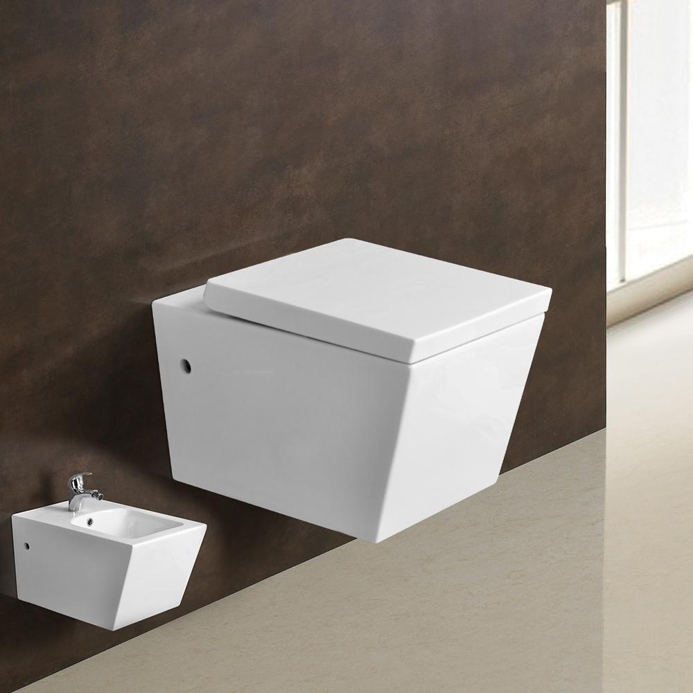 toilette wc wand h nge soft close sitz keramik wandh nge wc badkeramik badbidet ebay. Black Bedroom Furniture Sets. Home Design Ideas