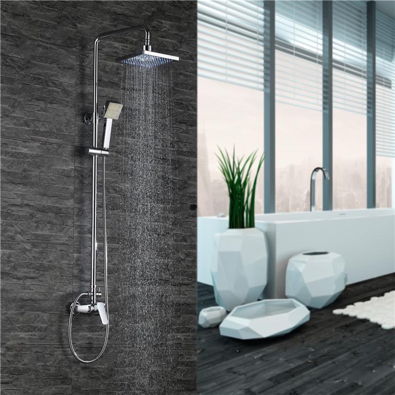 Toilette Dusche Tauschen : LED Set Brause Duschpaneel Duschset Bad Duscharmatur Regendusche