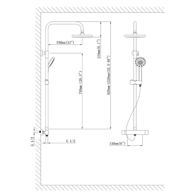 Toilette Dusche Tauschen : Set Design LED Regendusche Brause Duschset Handbrause Duschpaneel
