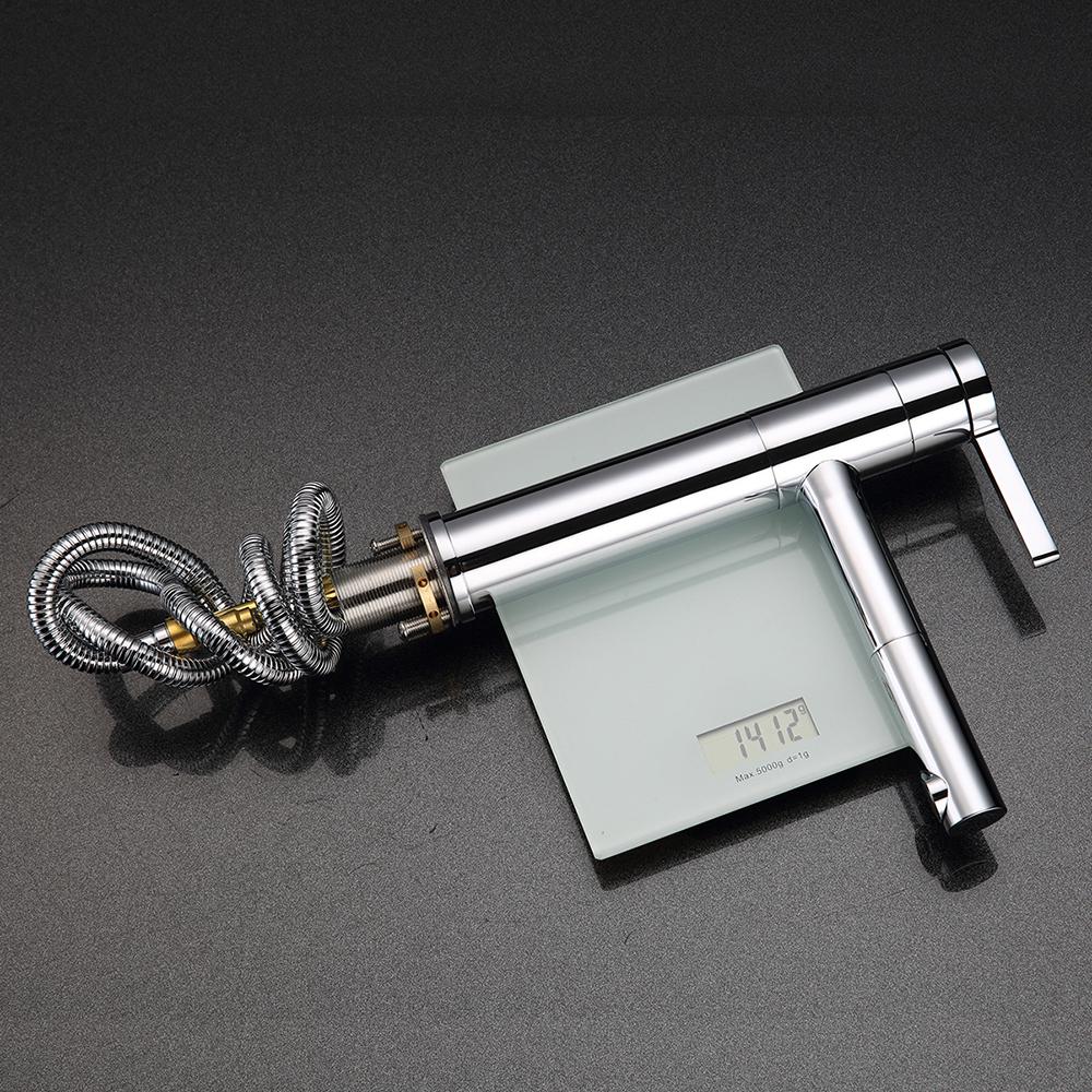 wasserhahn armatur badarmatur einhandmischer waschtisch mischbatterie mit brause ebay. Black Bedroom Furniture Sets. Home Design Ideas